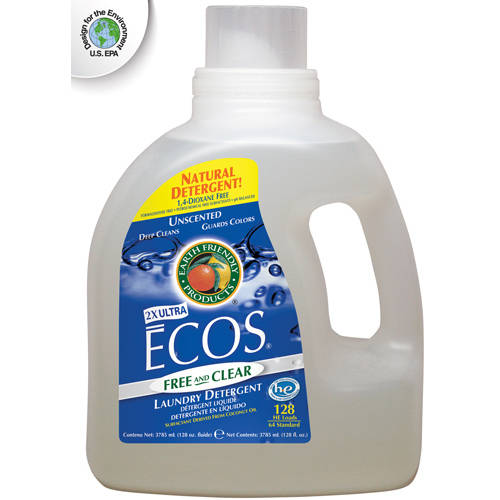 Ecos Laundry Detergent, Free & Clear, 128 fl oz