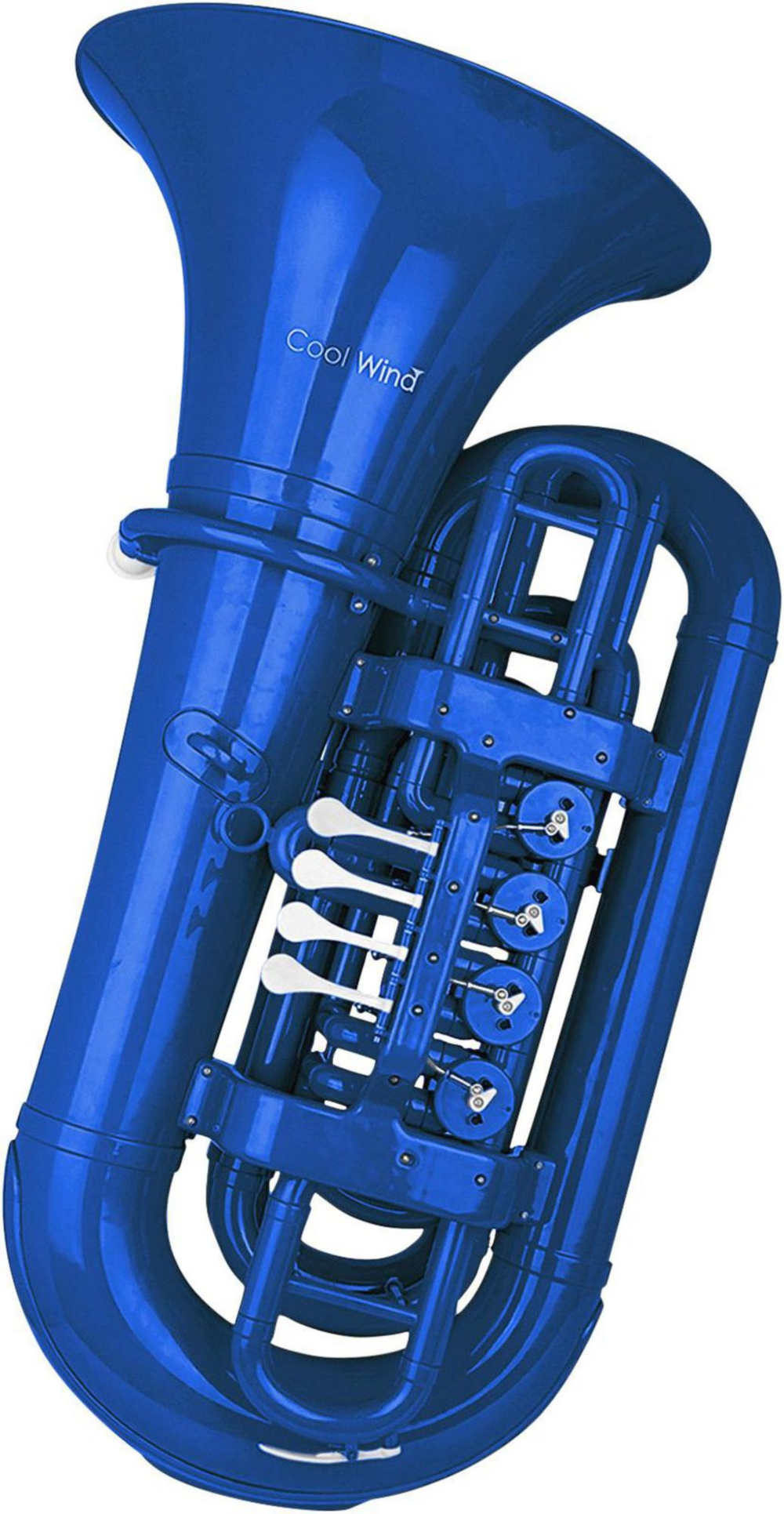 Cool Wind CTU-200 Series 4-Valve BBb Tuba Blue by Cool Wind