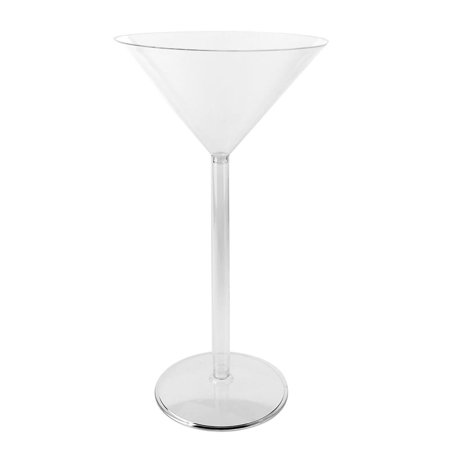 Martini Plastic Cups (Plastic Large Martini Glass Disposable Cup,)