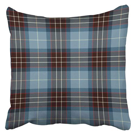 CMFUN Abstract Tartan Red Black Blue and White Plaid Flannel Patterns Trendy Tiles for Check Pillow Case Cushion Cover 18x18 inch Black White Plaid Check Flannel