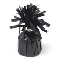 Foil Balloon Weight Party Decorations, 4-1/2-Inch, Black