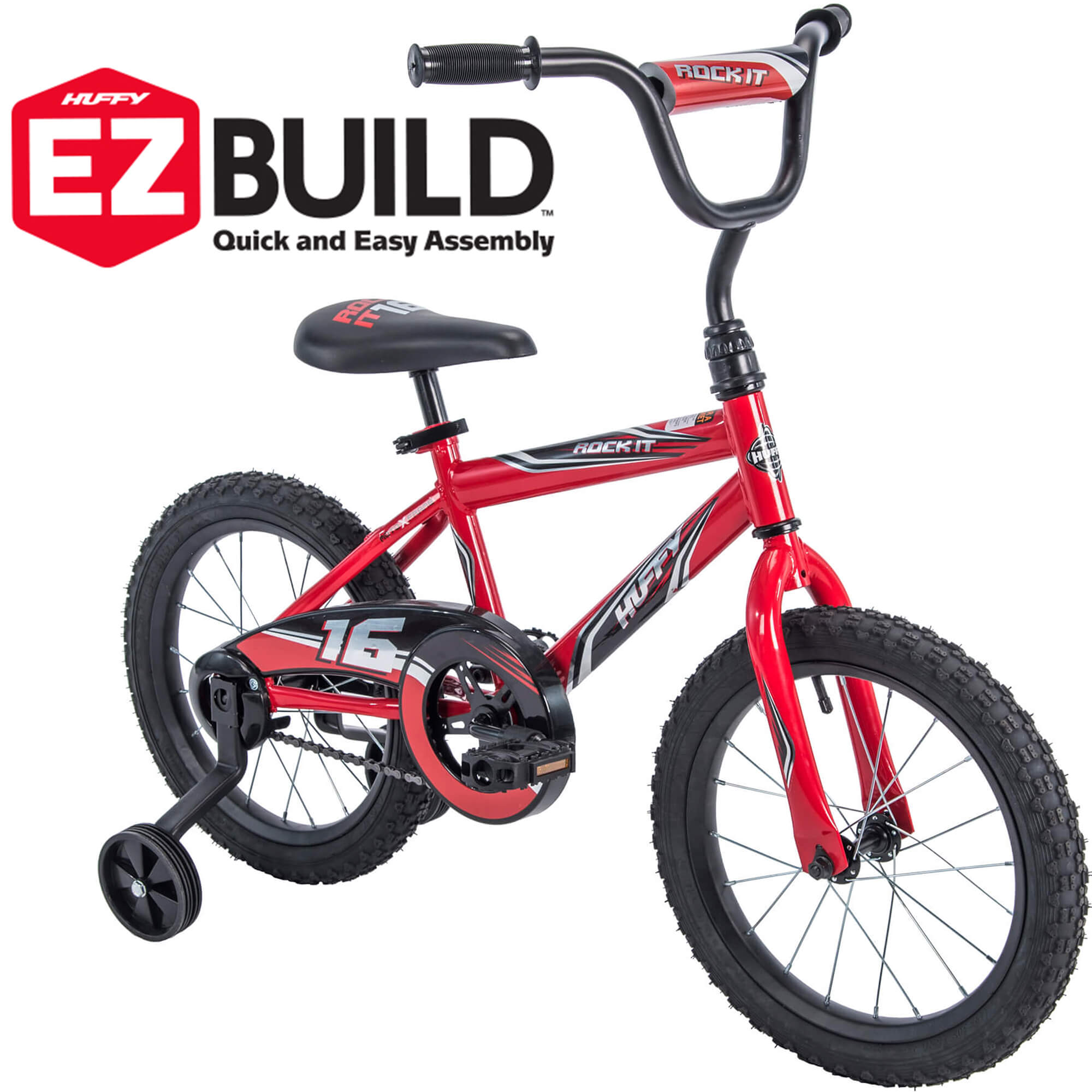 "Huffy 16"" Rock It EZ Build Bike, Red by Huffy"