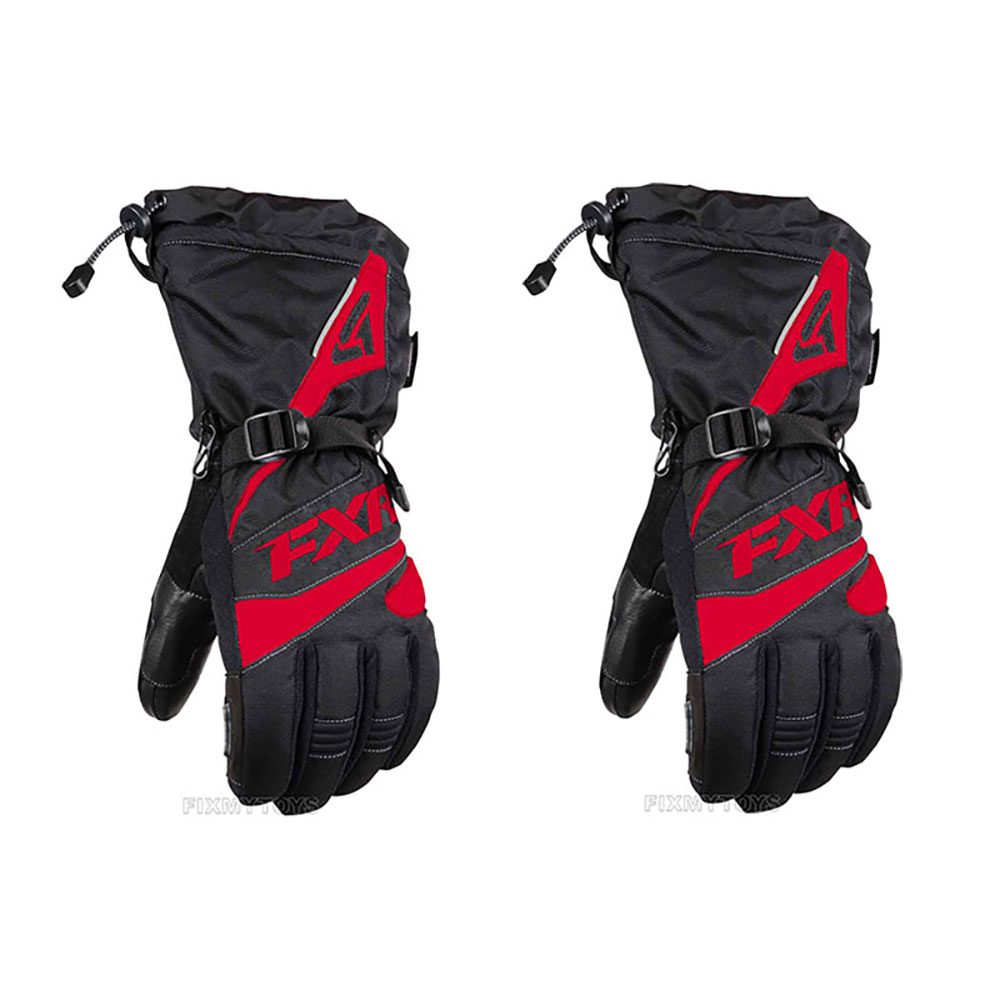 FXR Mens Fuel Snowmobile Gloves Durable Insulated Weatherproofing Pre-curved Fit