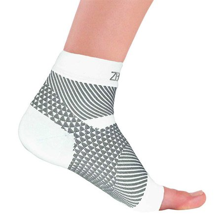 Zensah Plantar Fasciitis Sleeve  Single  Medium White