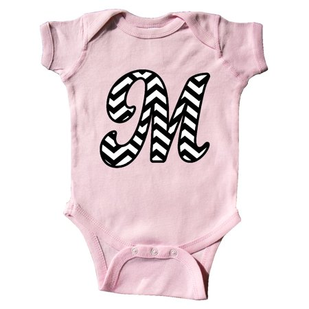 Chevron Monogram Letter M Infant Creeper