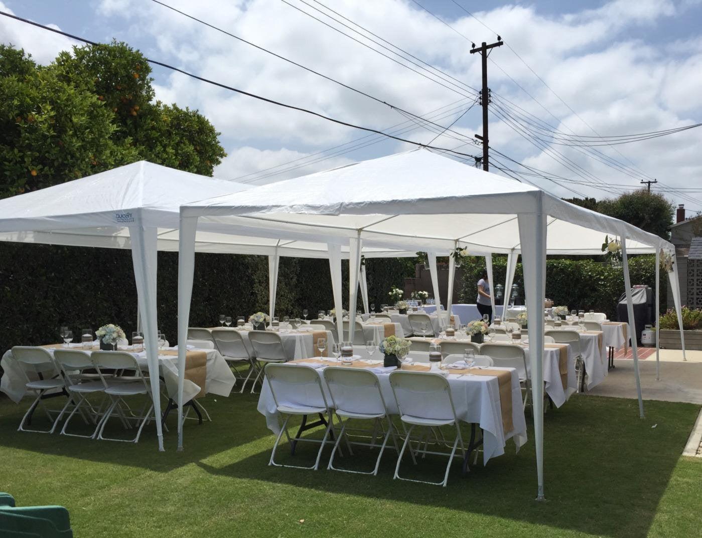 Ktaxon 10u0027x30u0027 Party Wedding Outdoor Patio Tent Canopy Heavy Duty Gazebo  Pavilion Event With 5 Wall   Walmart.com