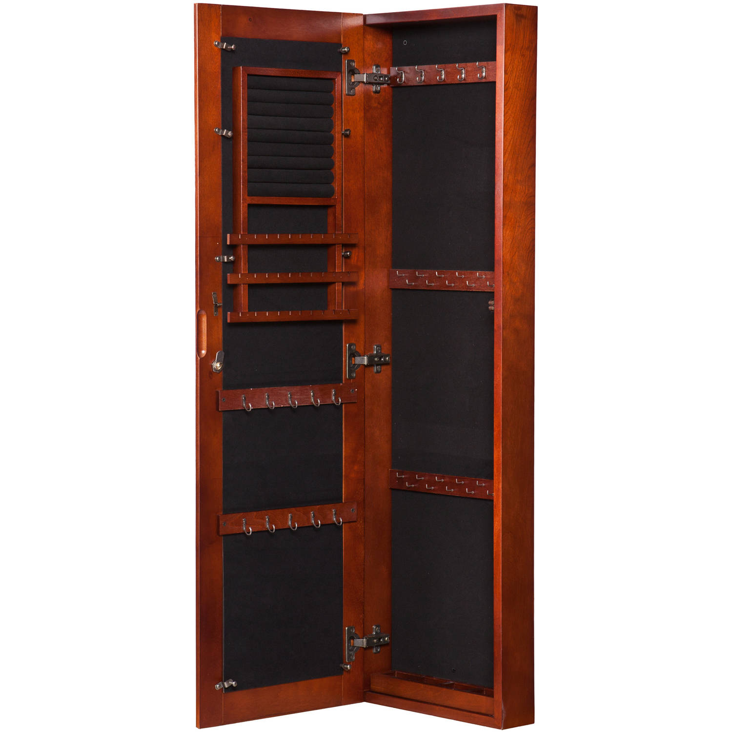 Vista Wall Mount Jewelry Armoire, Cherry   Walmart.com