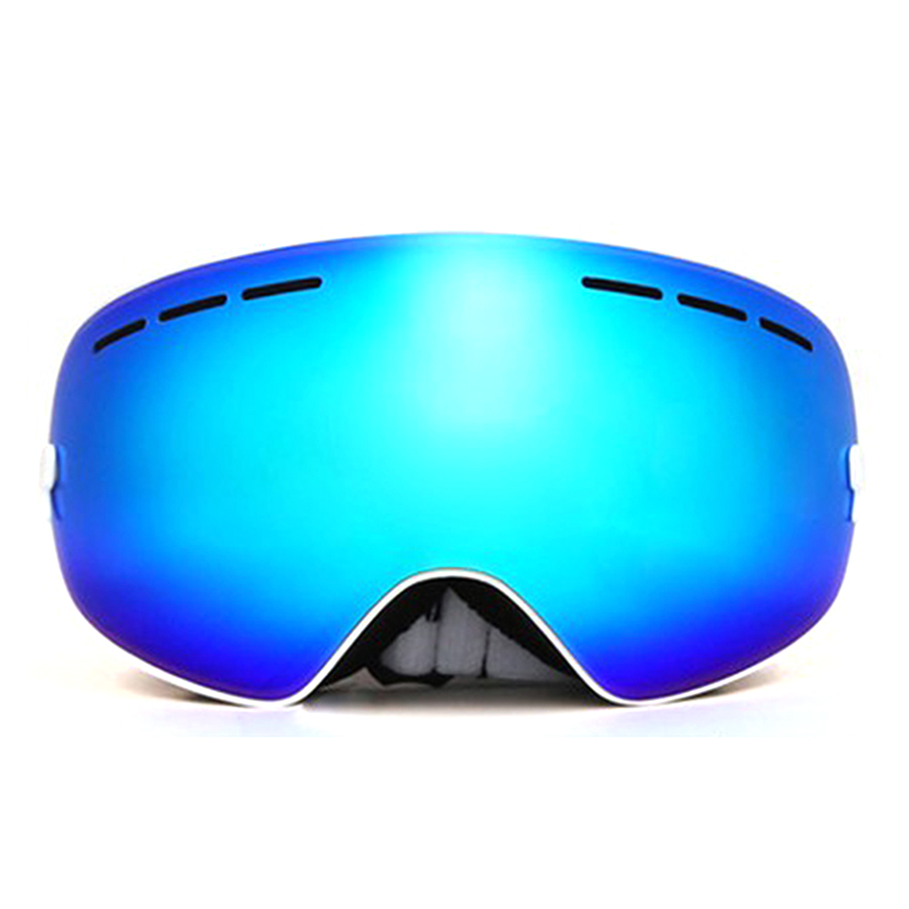 Outdoor Sports Skiing Goggles Windproof Anti-fog Snowmobile Bicycle Motorcycle UV Protection Glasses (White) by