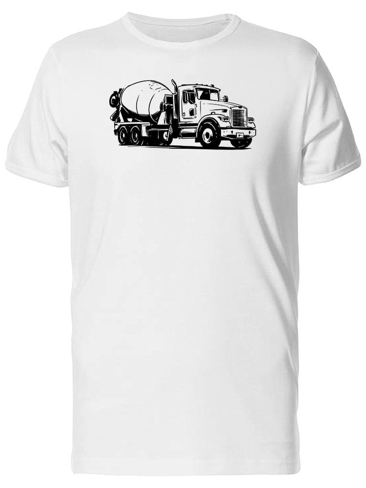 Concrete Mixer Truck Sketch Tee Men's -IMage by Shutterstock by Tee Bangers