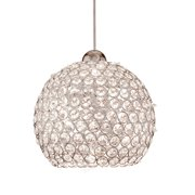 WAC Lighting G335-CL Roxy Pendant Glass Shade in Clear,