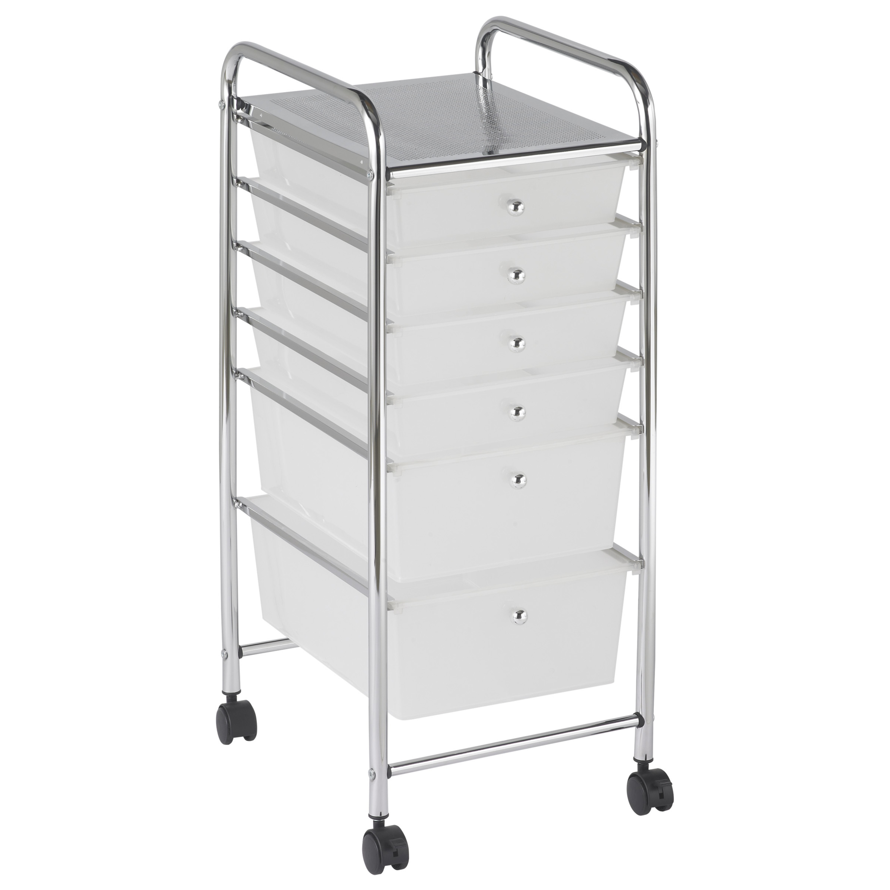 6 Drawer Mobile Organizer - Grayscale