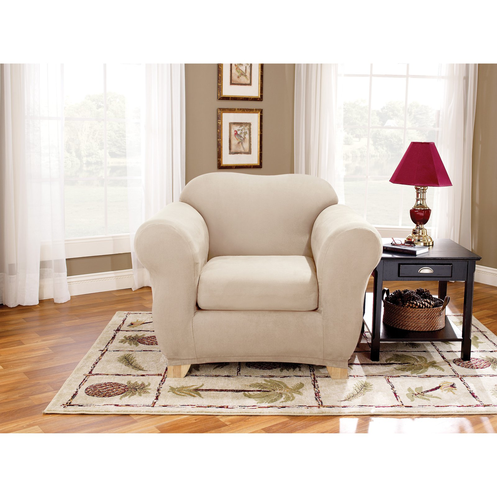 Sure Fit Stretch Suede Chair Stretchable Slipcover