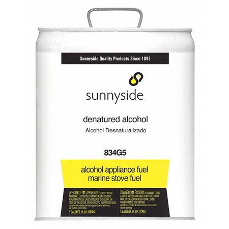 Sunnyside Denatured Alcohol, 5 gal., Solvent 5 gal.   834G5