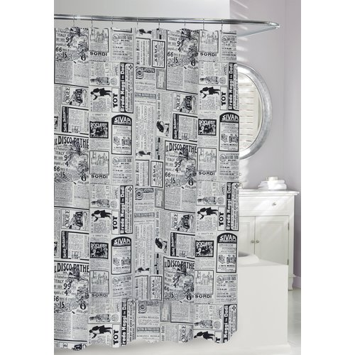 Moda At Home Zaverio Cotton Shower Curtain