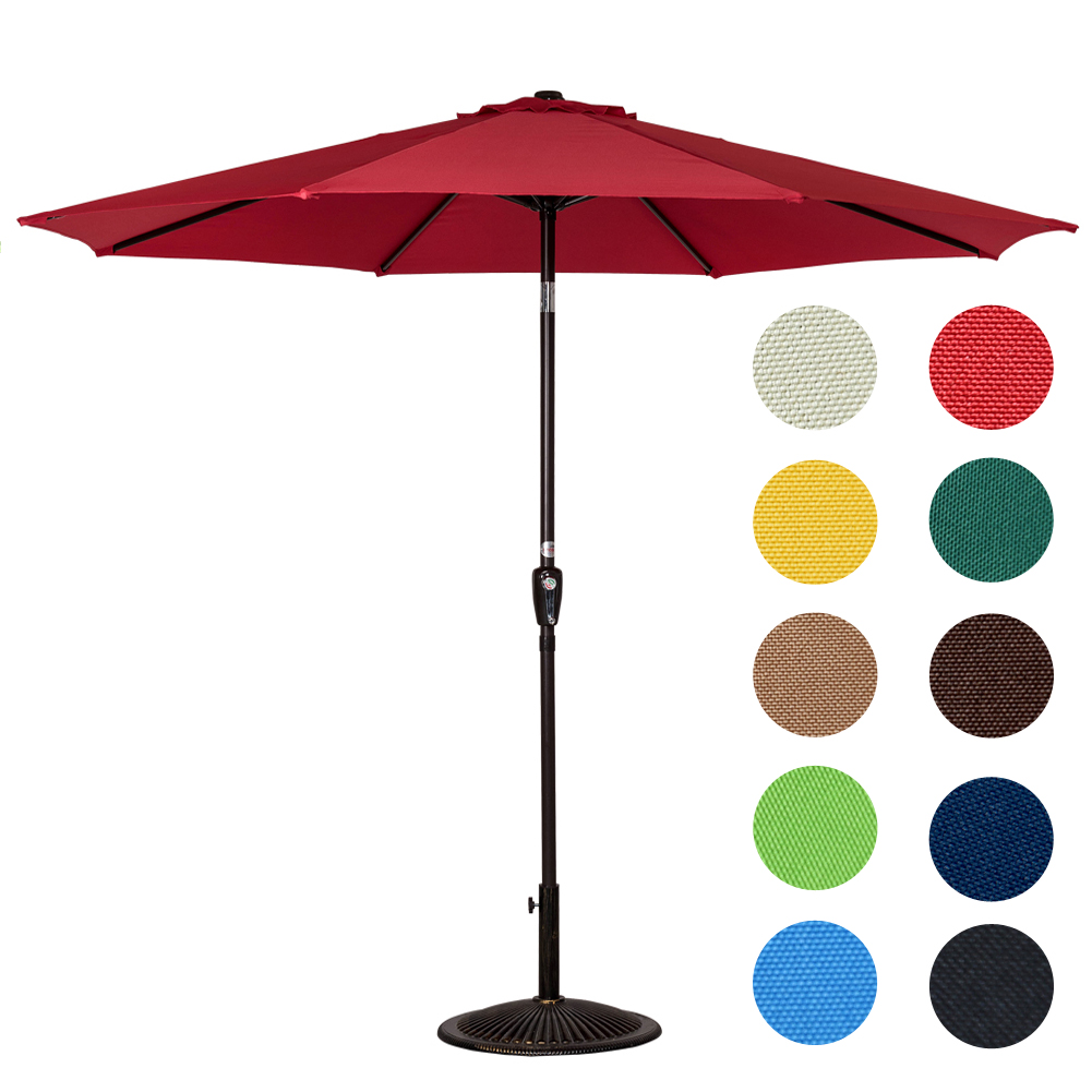 Sundale Outdoor 10 Feet Aluminum Patio Umbrella with Crank and Push Button Tilt, 8 Steel... by Sundale Outdoor