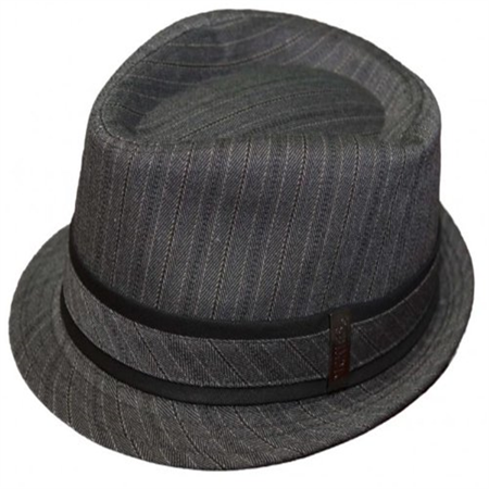 Mens Dickies Fedora Cap 50s Style Big Band Pinstripe Trilby Hat -Sm Med -  Walmart.com 024cce398a2