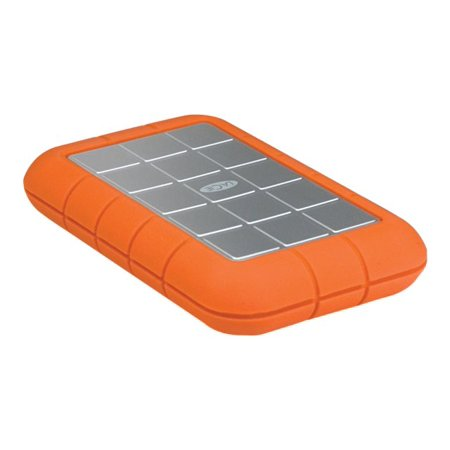 Lacie Rugged Triple 301983 500 Gb External Hard Drive Orange Usb 3 0 Firewire