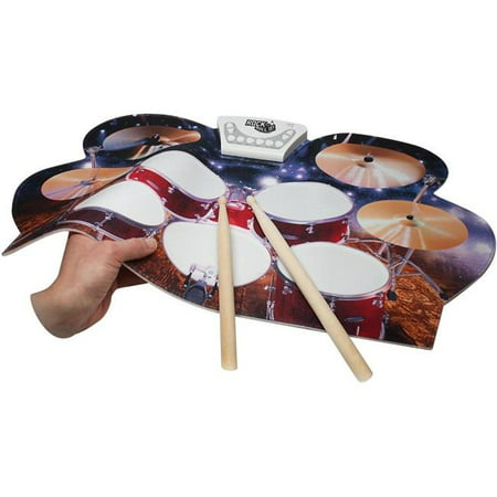 Rock And Roll It - Drum Live! Flexible, Completely Portable, battery OR USB powered drum that gives you the view of being on stage. Headphones + 2 Drum Sticks + (Rock Drum Thrones)