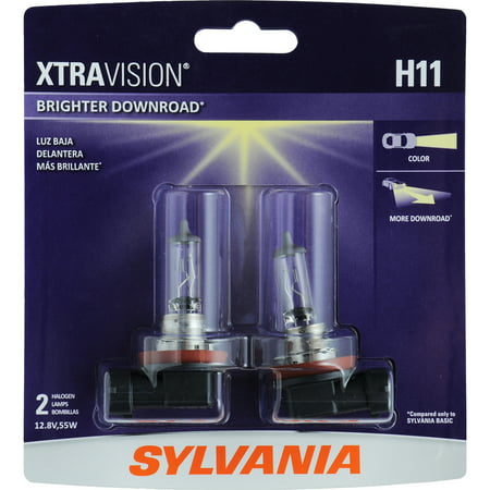 Sylvania Halogen Headlights - SYLVANIA H11 XtraVision Halogen Headlight Bulb, Pack of 2