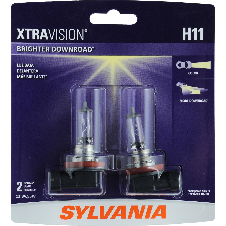 SYLVANIA H11 XtraVision Halogen Headlight Bulb, Pack of 2