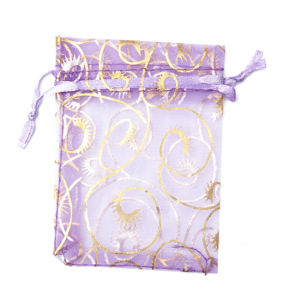 100Pcs Organza Pouch Jewelry Gift Candy Bag ,7*9cm Wedding Sheer Organza Favor Bags Party Favor Decoration,pink color