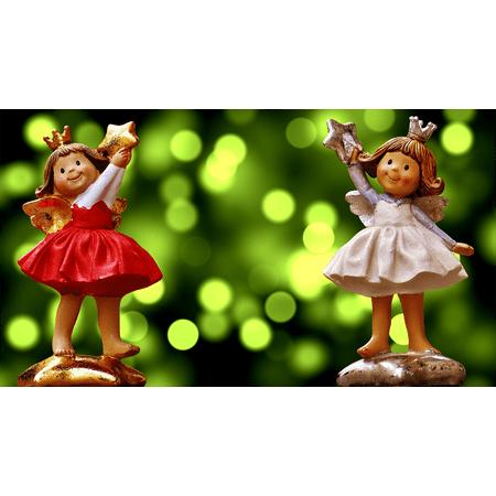 (LAMINATED POSTER Cute Schutzengelchen Art Angel Fig Ceramic Poster 24x16 Adhesive Decal)