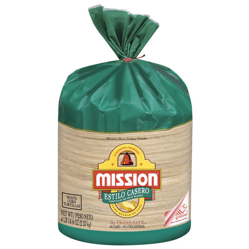 Mission White Corn Estilo Casero Tortillas, 70 ct