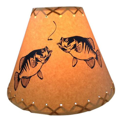 Millwood Pines Double Crappie 9'' Paper Empire Lamp Shade