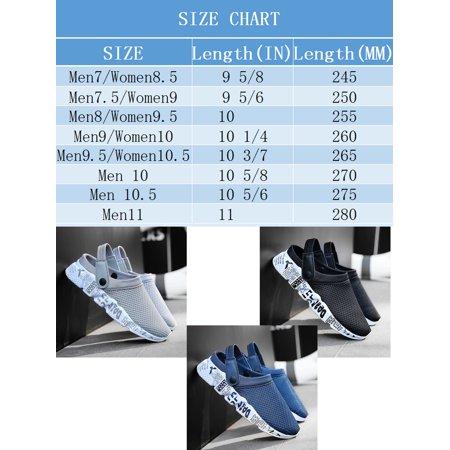 Tanleewa Men Breathable Mesh Net Sandals Slippers Lightweight Walking Slip Half Shoes
