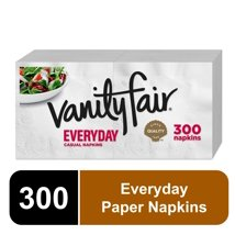 Napkins: Vanity Fair Everyday White Napkins