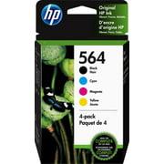 HP 564 Black, Cyan, Magenta & Yellow Ink Cartridges, 4 Cartridges (NA3YQ22AN)