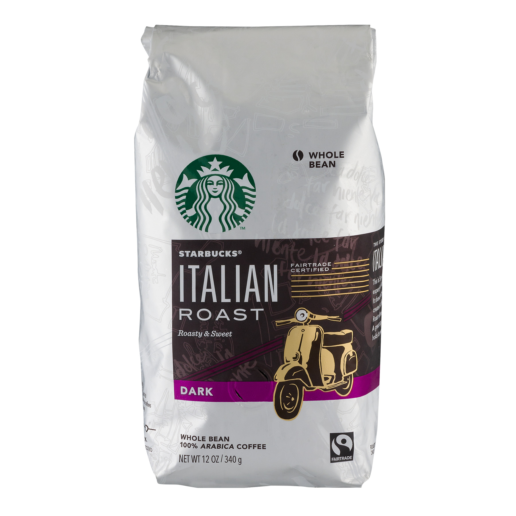 Starbucks Italian Roast Dark Whole Bean Coffee, 12.0 OZ