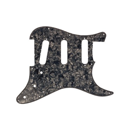 Seismic Audio Silver Tortoiseshell Replacement 3 Ply Pickguard for Standard Strat Style Guitar White - - Bass Style Pickguard