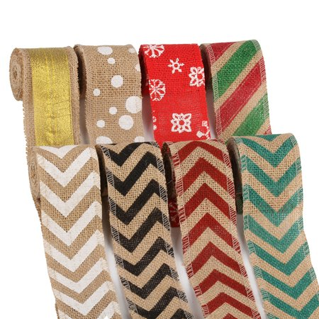 Boyijia 6cm 2m DIY Handmade Colorful Linen Roll Belt Strap Band Handcraft Party Decorative Supplies - image 2 of 9