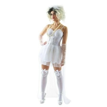 80's Virgin Bride Adult - 80's Girl Costume