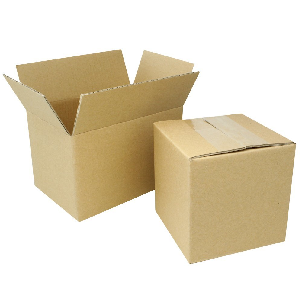 5 8x5x4 Corrugated Cardboard Packing Boxes Mailing Moving