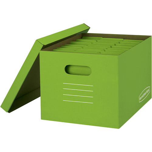Bankers Box Basic-Strength Storage Boxes, 8-Pack