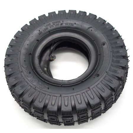"""3.00-4 (10""""x3"""", 260x85) Knobby Scooter, ATV and Go Kart Tire and Tube Set"""