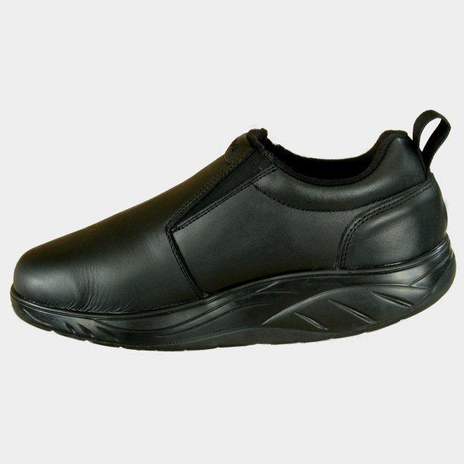 I-Roc M102B9 Leather Mens Slip On Black Shoes