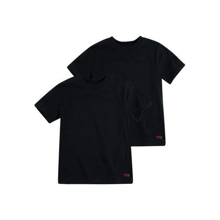 Levi's® Classic Short Sleeve Crew Undershirts, 2 Pack (Big Boys)