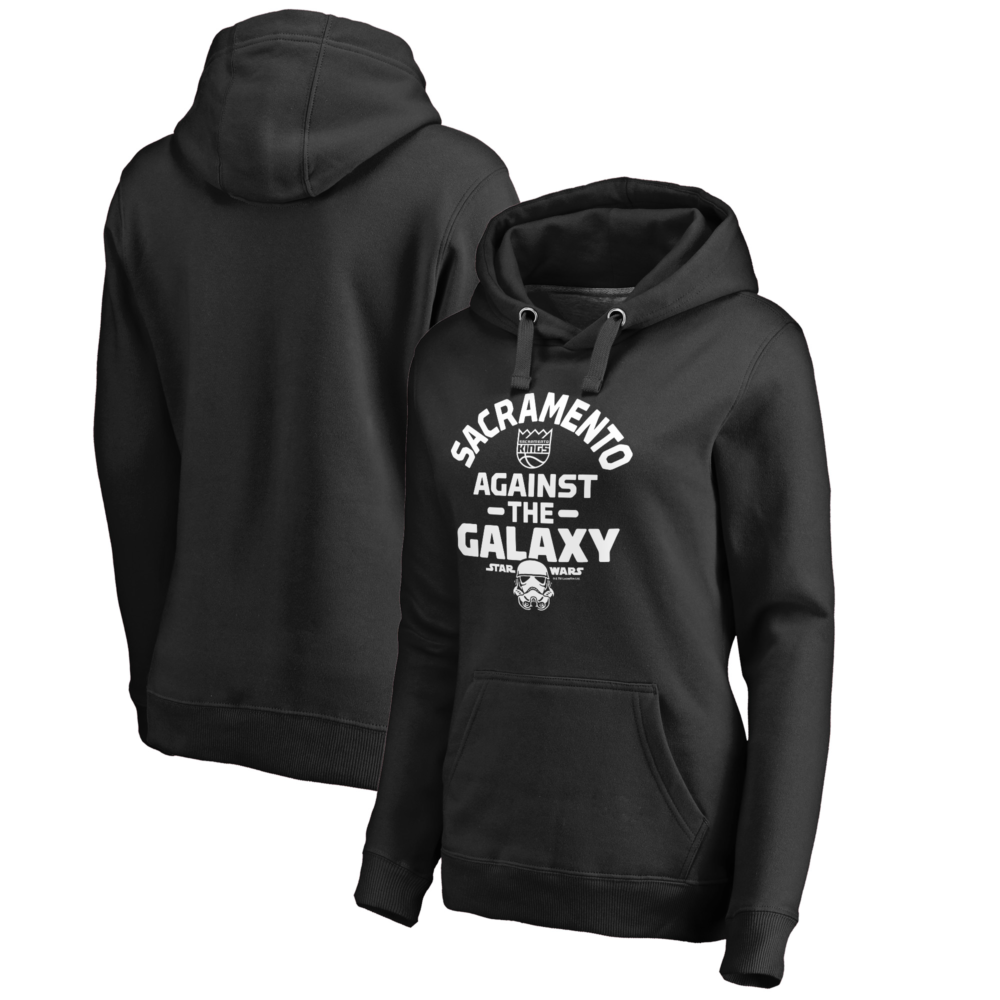 Sacramento Kings Fanatics Branded Women's Star Wars Against the Galaxy Pullover Hoodie - Black