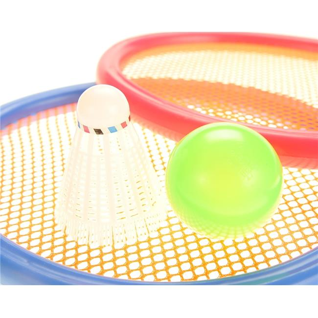 AZImport PS933G Badminton & Tennis Play Set with Easy to Grip Colorful Rackets by AZImport