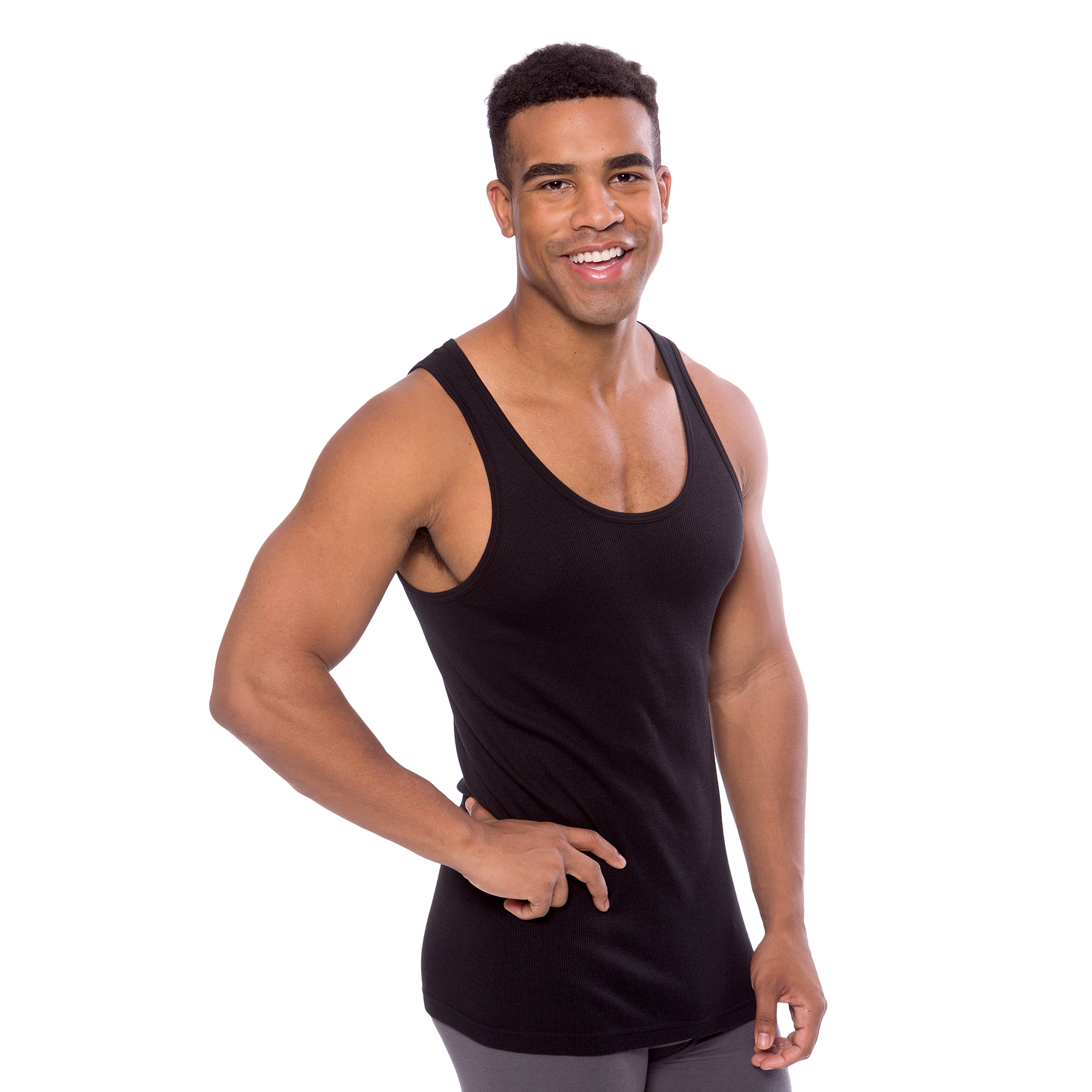 daab4974b191d TexereSilk - Texere Men s Ribbed Tank Top Undershirt (3-Pack) Comfortable  Men s Under Shirts MB6304 - Walmart.com