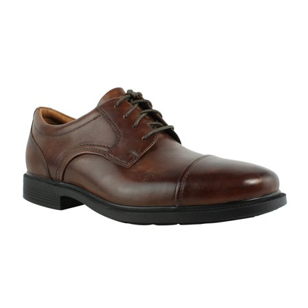 Rockport Dp Luxe Captoe New Brown Leather Oxfords Mens Casual Shoes Size 9 5 New