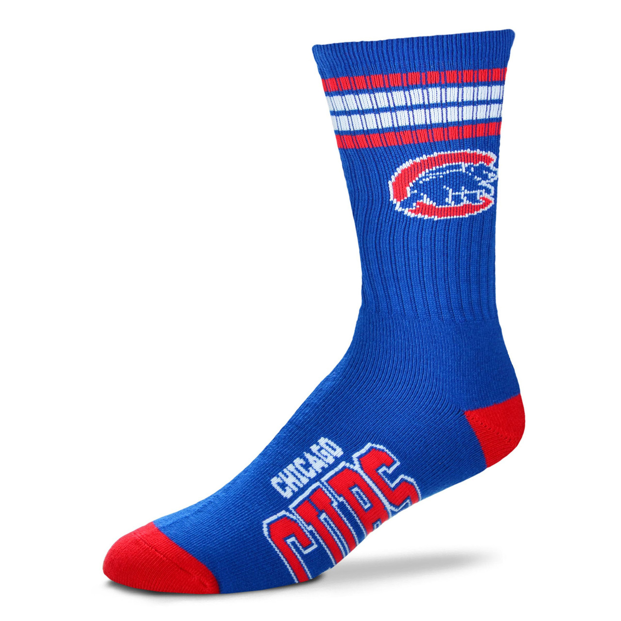 Chicago Cubs Adult Stripe Deuce Sock - Royal