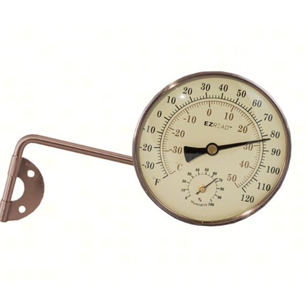 EZRead 4 in. Metal Wall Mount Thermometer
