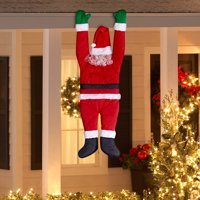 Holiday Time Christmas Decor Hanging Santa by Gemmy Industries
