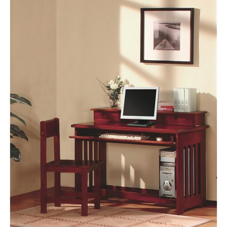 American Furniture Classics Student Desk with Hutch - (Merlot Office)
