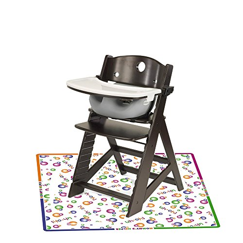 Keekaroo Espresso Height Right High Chair with Infant Insert, Tray and Mat (Sable Grey) by Keekaroo