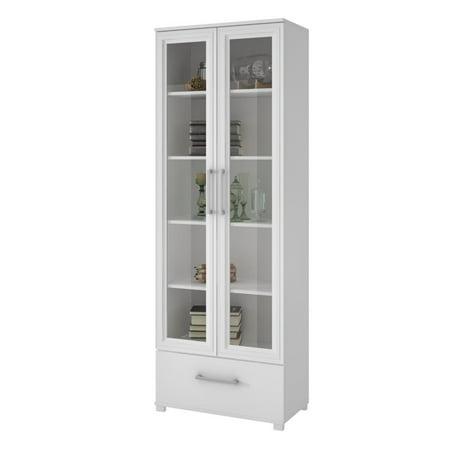 Kingfisher Lane 5 Shelf Curio Cabinet in White ()